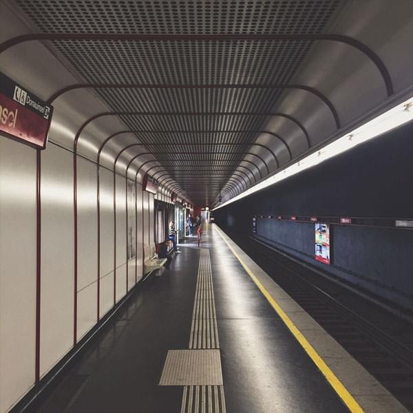 无尽的地铁隧道,2016年8月12日@维也纳